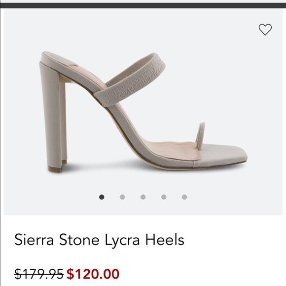 5cf81442958 Sierra Stone Lycra Heels NWT